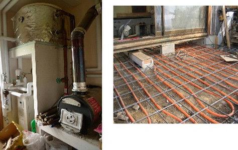 建物の断熱によって増大するコンクリート床の熱容量